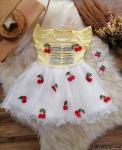 Kirazlı Kız Çocuk Elbise