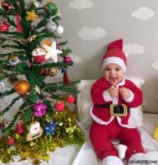Noel Baba 4'lü Bebek Takım Yılbaşı Kostüm