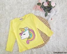 Unicorn Penye Kız Çocuk Sweatshirt
