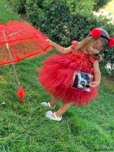Pullu Prenses Kız Çocuk Elbise