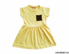 Cep Detaylı Kız Çocuk Elbise