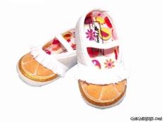 Portakal Figürlü Bebe Patik