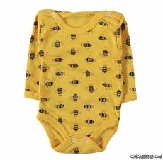Arı Baskılı Uzun Kollu Bebek Badi