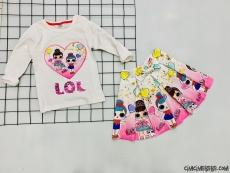 Sürpriz Kız Çocuk Dalgıç Etekli Takım