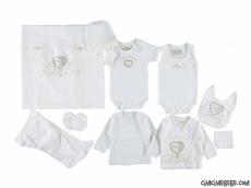 Anne Bebek Kalpli 10 Parça Bebek Zıbın Seti