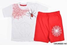 Göbek Kaslı Örümcek Adam Şortlu Takım