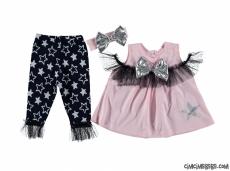 Star Taytlı Bandanalı Kokoş Bebek Takım
