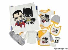 Süpergüç Baskılı 10 Parça Bebe Zıbın Seti