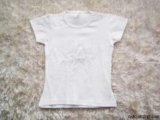 Yıldız Taşlı Penye Kız T-Shirt