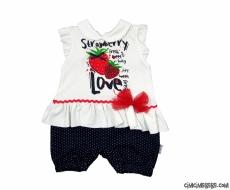 Strawberry Kısa Bebek Tulum