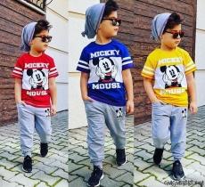 Mikili Şapkalı Erkek Çocuk Mevsimlik Takım