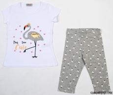Flamingo Kız Çocuk Taytlı Takım