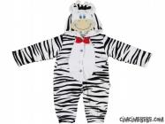 Zebra İçi Welsoft Bebe Kostüm Tulum