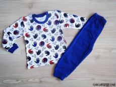 El Baskılı Erkek Çocuk Pijama Takımı