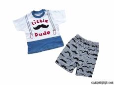 Little Dude Şortlu Bebek Takım