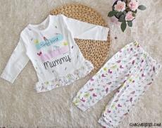 Minik Kuş Kız Bebek Pijama Takımı