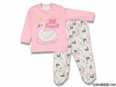Kuğulu Kız Bebek Pijama Takımı