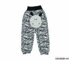 Zebra Nakışlı Bebek Tek Alt