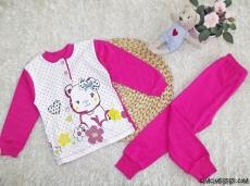 Minik Ayıcık Kız Çocuk Pijama Takımı