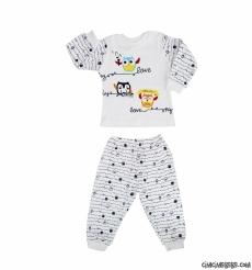 Baykuşlu Pijama Takımı