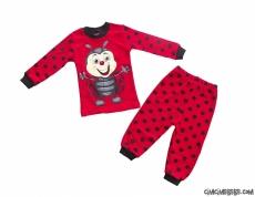 Uğur Böcekli Kız Pijama Takımı