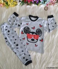 Minik Fare Çocuk Pijama Takımı
