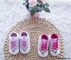 Tavşanlı Kız Bebek Convers Ayakkabı