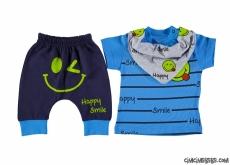 Happy Smile Fularlı Bebek Takım