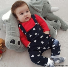Yıldız Desenli Bebek Slopet
