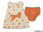 Lale Desenli Kilotlu Kız Bebek Elbise