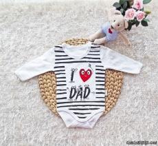 I Love Dad Uzun Kollu Bebek Badi