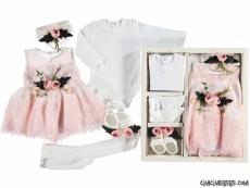 Çiçekli Kız Bebek Mevlütlük Set