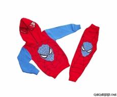 Süpergüç Kapşonlu Maskeli Kışlık Eşofman Takımı