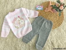Kız Bebek Triko Takım