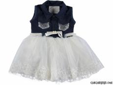 Tül Etekli Bebek Elbise