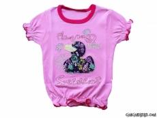 Ördek Aplikeli Kız T-Shirt