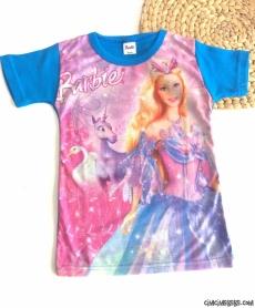 Prenses Baskılı Kısa Kollu Tişört