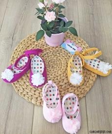 Çiçekli Kız Bebek Ayakkabı