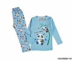 Minik Panda Erkek Çocuk Pijama Takımı