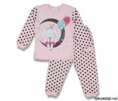 Balonlu Ay Baskılı Pijama Takımı
