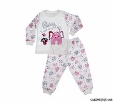 Baby Elephant Kız Çocuk Pijama Takımı