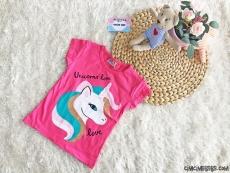 Unicorn Kız Çocuk Kısa Kollu T-Shirt