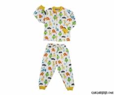 Hayvancıklı Erkek Çocuk Pijama Takımı