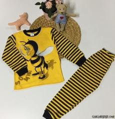 Minik Arı Kız Çocuk Pijama Takımı