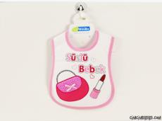 Süslü Bebek Yazılı Bebe Önlük