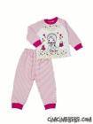 Yıldızlı Kız Baskılı Bebe Pijama Takımı