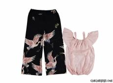 Kuşlu Şık Kız Çocuk Takım