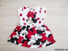 Fareli Penye Kız Çocuk Elbise