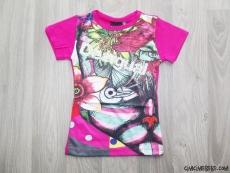 Kız Çocuk Desenli T-Shirt