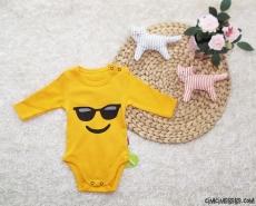 Cool Emoji Uzun Kollu Bebek Badi